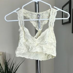Cream Free People Bralet